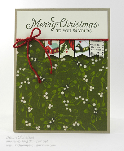 Stampin' Up! Clearance Rack Banner Punch card shared by Dawn Olchefske #dostamping