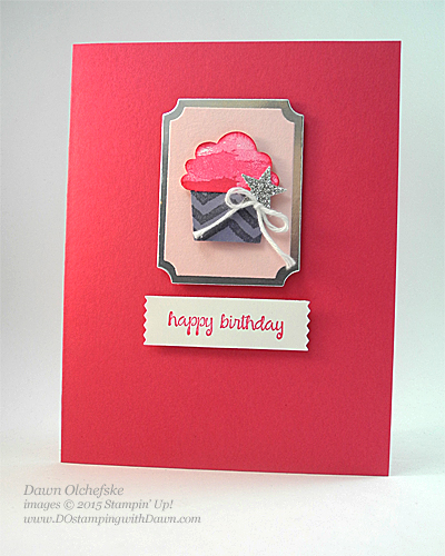 Stampin' Up! Clearance Rack Cupcake Builder Punch card by Dawn Olchefske #dostamping