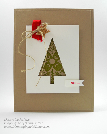 Stampin' Up! Clearance Rack Tree Punch card created by Dawn Olchefske #dostamping