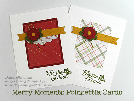 Stampin' Up! Clearance Rack Merry Moments Designer Series Paper Stack card created by Dawn Olchefske #dostamping