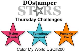 DOstamperSTARS Thursday Challenge #200-Color My World