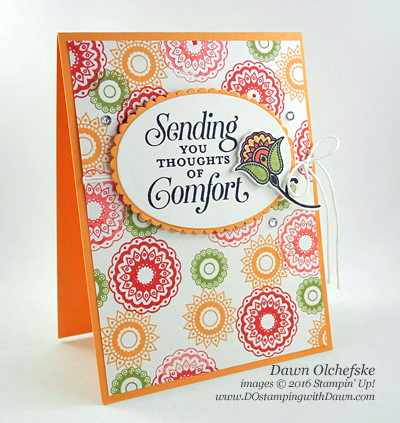 Stampin' Up! Sept 15-21 Special Offer Layering Ovals Framelits Dies card created by Dawn Olchefske #dostamping