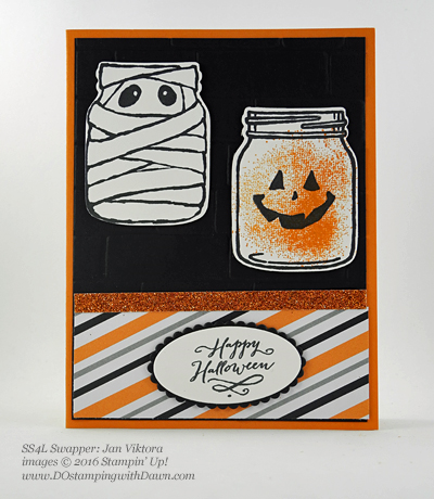7 spooky Stampin' Up! 2016 Holiday Catalog Halloween swap cards shared by Dawn Olchefske #dostamping (Jan Viktora)