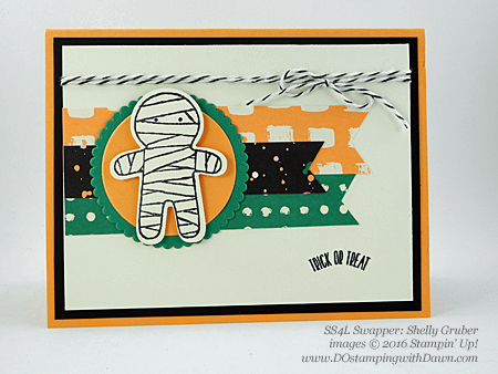 8 Spooky Stampin' Up! Halloween swap cards shared by Dawn Olchefske #dostamping (Shelly Gruber)