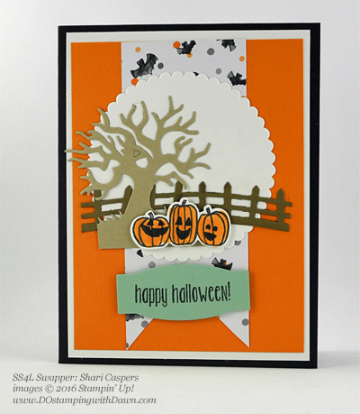 8 Spooky Stampin' Up! Halloween swap cards shared by Dawn Olchefske #dostamping (Shari Caspers)