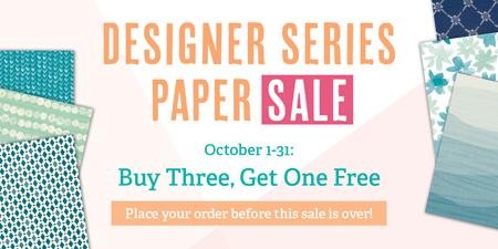 Stampin' Up! Designer Series Paper Sale Buy 3 Get 1 FREE #dostamping