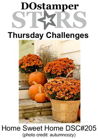 DOSstamperSTARS Thursday Challenge #205-Home Sweet Home