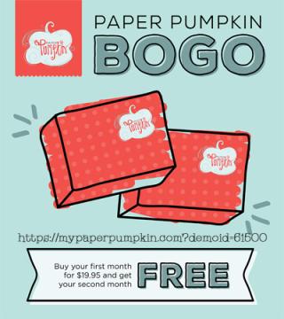 Paper Pumpkin BOGO sale by Stampin' Up! #dostamping, Dawn Olchefske
