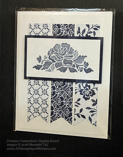 Stampin' Up! Floral Boutique card shared by Dawn Olchefske #dostamping #stampinup (Creative Connections Display Board)