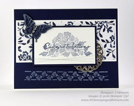Stampin' Up! Floral Boutique swap cards shared by Dawn Olchefske #dostamping #stampinup