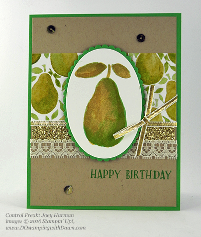 Stampin' Up! Fresh Fruit swap cards shared by Dawn Olchefske #dostamping #stampinup (Joey Hartman)
