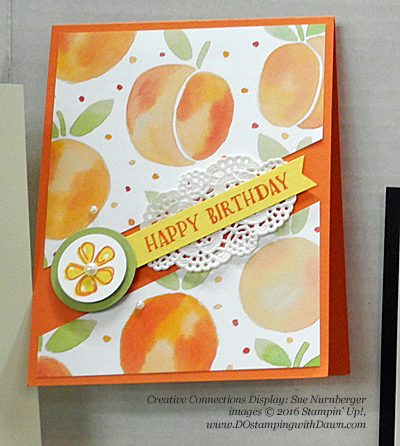 Stampin' Up! Fruit Stand swap cards shared by Dawn Olchefske #dostamping #stampin up (Sue Nurnberger)