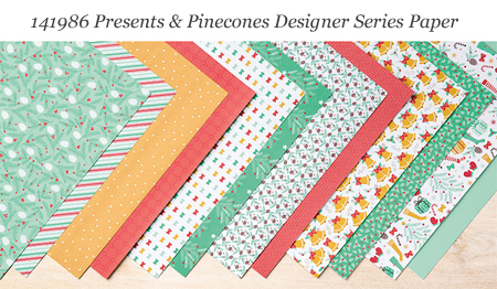Stampin' Up! Presents & Pinecones Designer Series Paper #dostamping