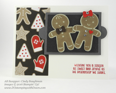 Stampin' Up! Cookie Cutter Bundle swap cards shared by Dawn Olchefske #dostamping #stampinup (Cindy Baughman)