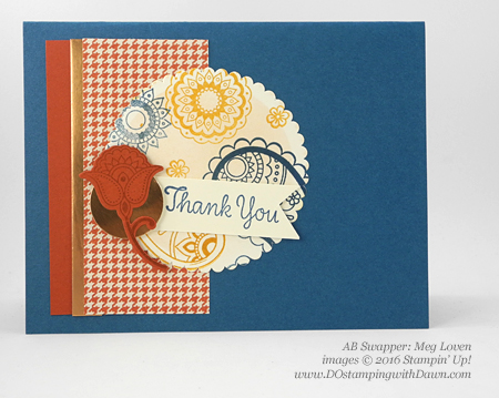 Stampin' Up! Paisleys & Posies swap cards shared by Dawn Olchefske #dostampin #stampinup (Meg Loven)