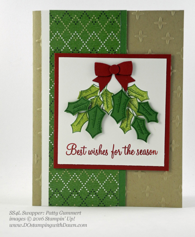 Stampin' Up! Holly Berry Happiness swap cards shared by Dawn Olchefske #dostamping #stampinup (Patty Gummert)