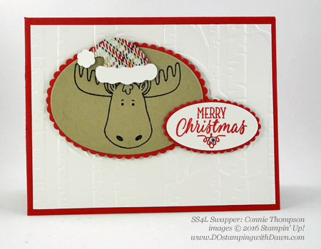 Stampin' Up! Jolly Friends swap cards shared by Dawn Olchefske #dostamping #stampinup (Connie Thompson)