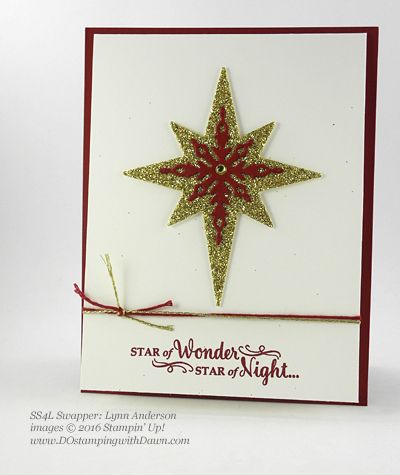 Stampin' Up! Star of Light bundle swap cards shared by Dawn Olchefske #dostamping #stampinup (Lynn Anderson)