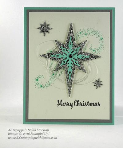 Stampin' Up! Star of Light bundle swap cards shared by Dawn Olchefske #dostamping #stampinup (Stella MacKay)