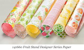 Stampin' Up! Fruit Stand Designer Series Paper #dostamping