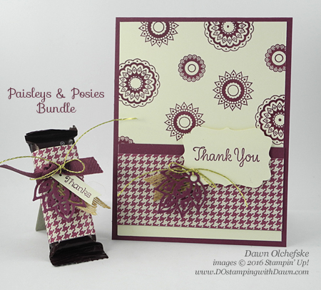 Stampin' Up! Paisley & Posies Bundle card created by Dawn Olchefske #dostamping