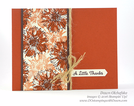 Stampin' Up! Touches of Texture card created by Dawn Olchefske for DOstamperSTARS Thursday Challenge #DSC205 #dostamping