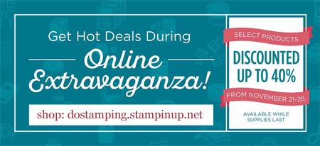 Nov 21-28 Stampin' Up! Online Extravaganza Dawn Olchefske #dostamping