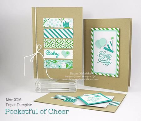 Pocketful of Cheer March 2016 Paper Pumpkin kit alternate ideas shared by Dawn Olchefske #dostamping #stampinup