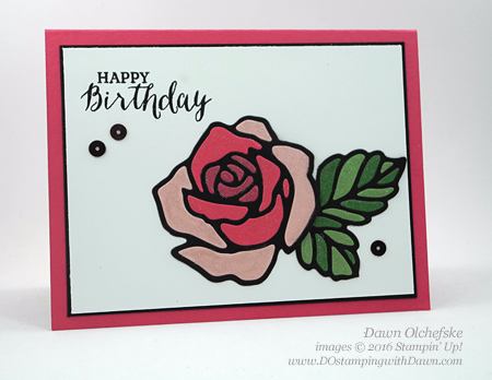 Rose Garden Thinlit Die card created by Dawn Olchefske #dostamping