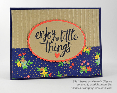 Affectionately Yours Swap card shared by Dawn Olchefske #dostamping (Georgia Giguere)