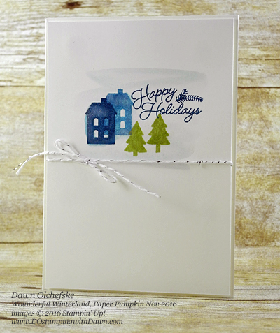 Stampin' Up! Paper Pumpkin Sept 2016 Kit Wonderful Winterland Alternative Ideas created by Dawn Olchefske #dostamping