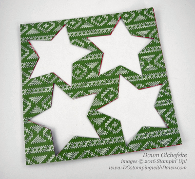Warmth & Cheer stars die cutting Dawn Olchefske #dostamping