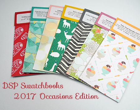 Stampin' Up! 2017 Occasions Catalog DSP Swatchbooks by Dawn Olchefske #dostamping