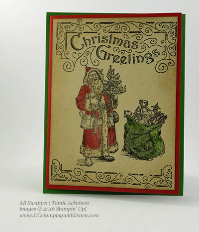 Father Christmas swap card shared by Dawn Olchefske #dostamping (Tamie Ackerson)