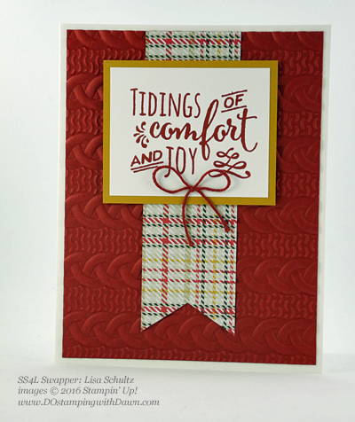 Christmas Pines swap card shared by Dawn Olchefske #dostamping (Lisa Schultz)