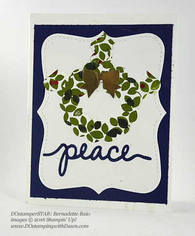 Wondrous Wreath card shared by Dawn Olchefske #dostamping (Bernadette Baio)