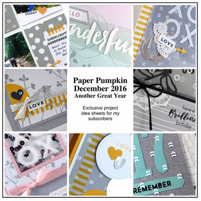 Alternative Ideas for Stampin' Up! Paper Pumpkin Dec 2016 Kit Another Great Year shared by Dawn Olchefske #dostamping