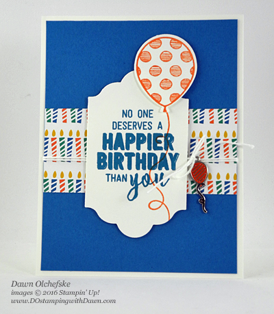 Stampin' Up! Balloon Adventures card created by Dawn Olchefske for DOstamperSTARS Thursday Challenge #DSC212 #dostamping