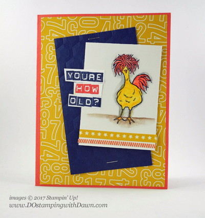 Stampin' Up! Hey Chick Sale-a-Bration free choice card shared by Dawn Olchefske #dostamping , Stampin' Up!