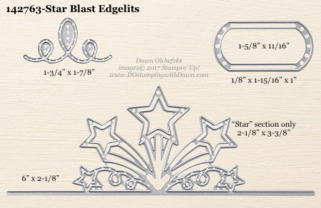 Stampin' Up! Star Blast Edgelits Dies sizes shared by Dawn Olchefske #dostamping