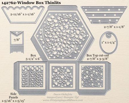 "Stampin"" Up! Window Box Thinlits Dies sizes shared Dawn Olchefske #dostamping"