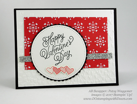 Valentine Swap card shared by Dawn Olchefske #dostamping (Patsy Waggoner)