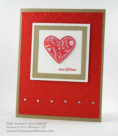 Valentine Swap card shared by Dawn Olchefske #dostamping (Kay Kalthoff)