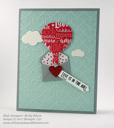 Valentine Swap card shared by Dawn Olchefske #dostamping (Becky Edson)