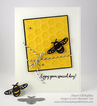 Stampin' Up! Hexagons Dynamic Folder & Dragonfly Dreams Bundle card created by Dawn Olchefske for DOstamperSTARS Thursday Challenge #DSC214 #dostamping