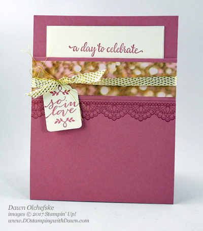 Stampin' Up! So In Love Bundle (2017 Occasions Catalog) & Delicate Details (Sale-a-Bration) card by Dawn Olchefske for Control Freak Blog Tour #dostamping