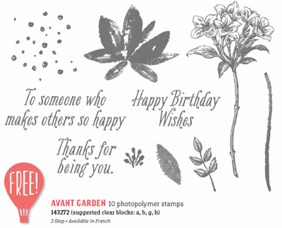 143272 Avant-Garden by Stampin' Up! Free Sale-a-Bration stamp set #dostamping