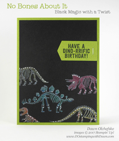 Stampin' Up! No Bones About It Black Magic with a Twist card created by Dawn Olchefske #dostamping