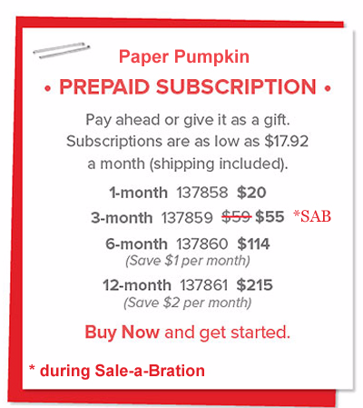 Prepaid Paper Pumpkin subscribe with Dawn Olchefske #dostamping