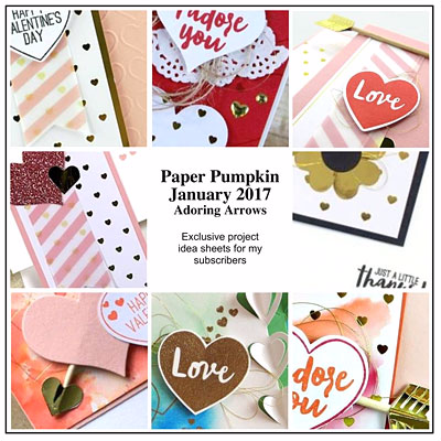 Alternative Ideas for Stampin' Up! Paper Pumpkin Jan 2017 Kit Adoring Arrows shared by Dawn Olchefske #dostamping